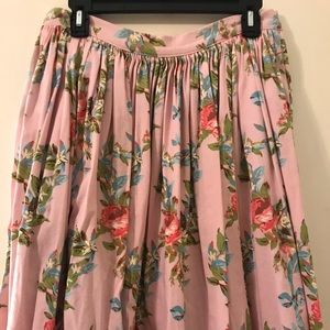 PUG Large Petite Blue Floral Ribbon Jenny skirt